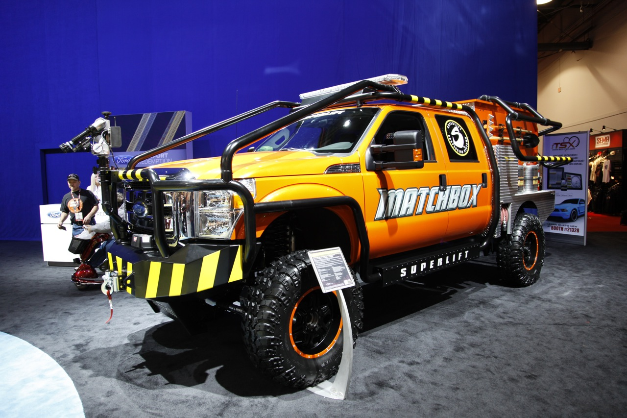 Commercial Truck Values >> Matchbox 2011 Ford F-350 Super Duty by Superlift suspensions is one hot fire truck - Autoblog
