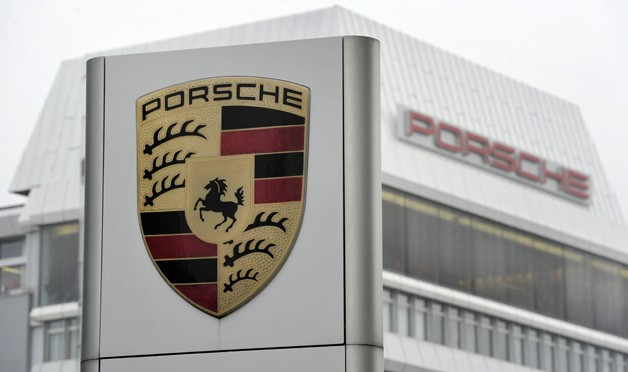 Porsche headquarters sign