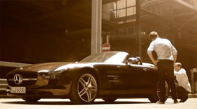 Mercedes-Benz SLS AMG Roadster video screen capture