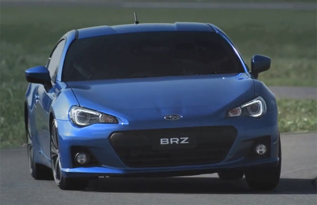 Subaru BRZ video screen capture
