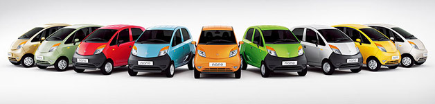 Tata Nano color options