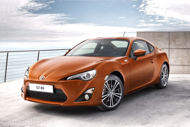 2012 Toyota GT-86 - orange paint - three-quarter view