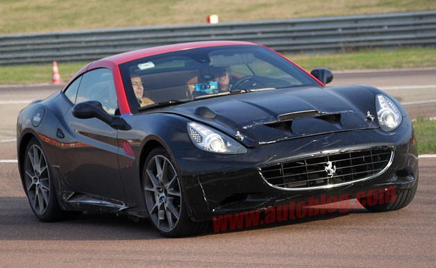 Ferrari California spy shot