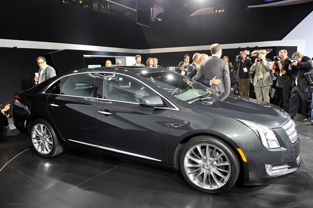 2013 Cadillac XTS sedan live reveal in Los Angeles