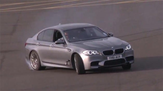 2012 BMW M5 drift video