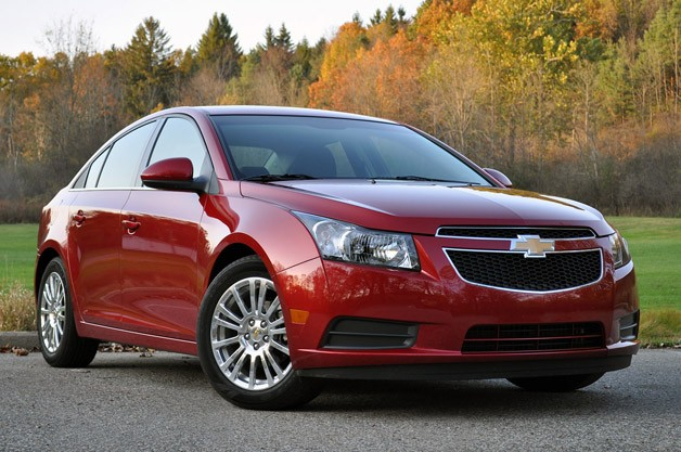 2012 Chevrolet Cruze Eco -  red - front three-quarter view
