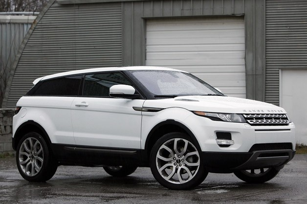 2012 Land Rover Range Rover Evoque Coupe- white - front three-quarter view
