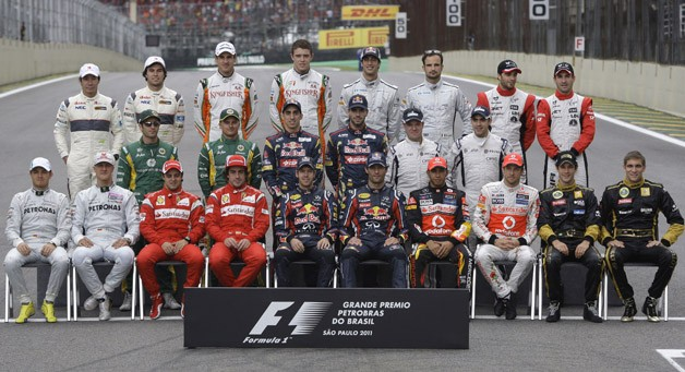 2011 Formula One drivers at the Brazilian Grand Prix