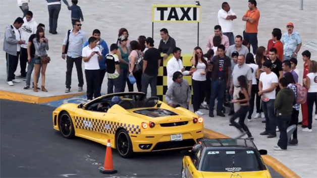 Ferrari Taxi video screen cap