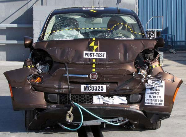 Fiat 500 after crash test