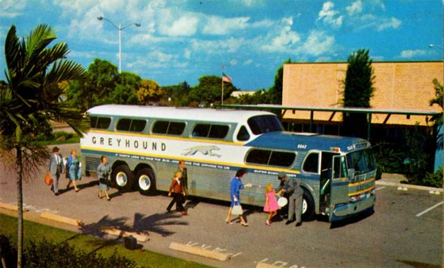 Greyhound ScenicCruiser bus - vintage photo
