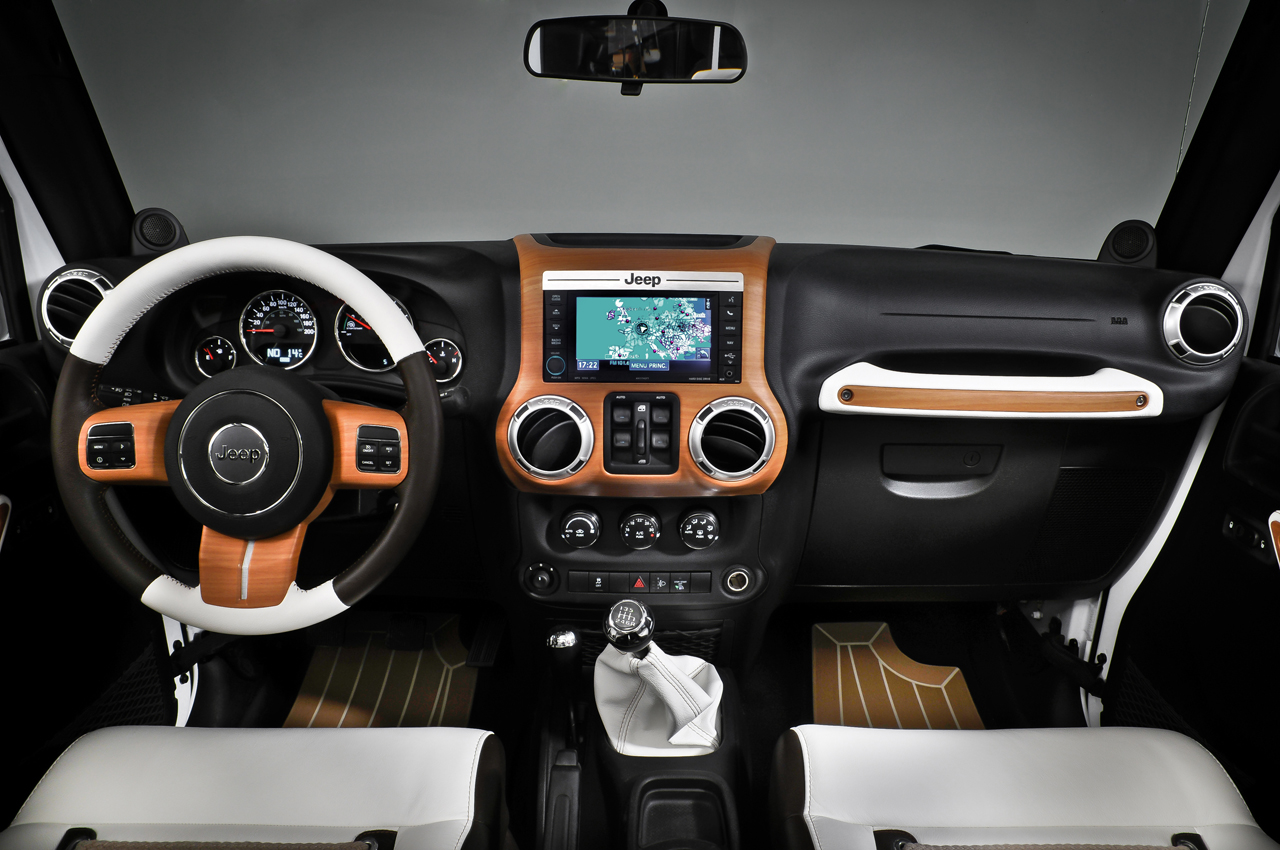 Jeep wrangler white and black by style design photo for Interior designs unlimited