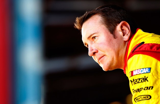 Kurt Busch of NASCAR looking contemplative