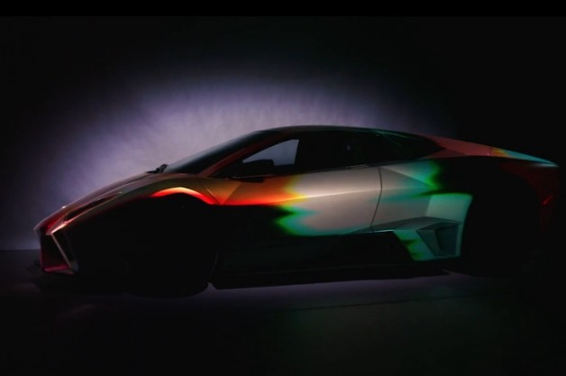 Lamborghini Reventon projection mapping