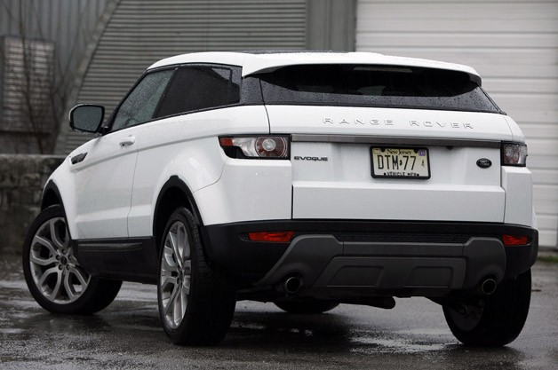2012 Land Rover Range Rover Evoque Coupe rear 3/4 view