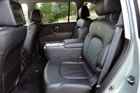 2012 Infiniti QX56 rear seats