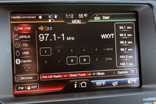 2012 Ford Edge EcoBoost audio system display