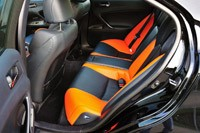 2011 Lexus IS F rear seats