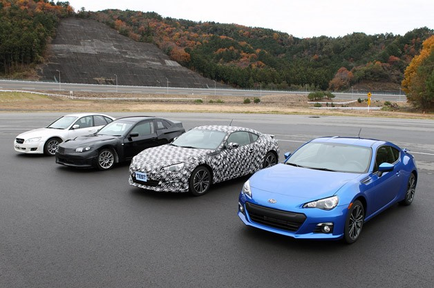 2013 Subaru BRZ group photo