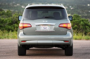 2012 Infiniti QX56 rear view