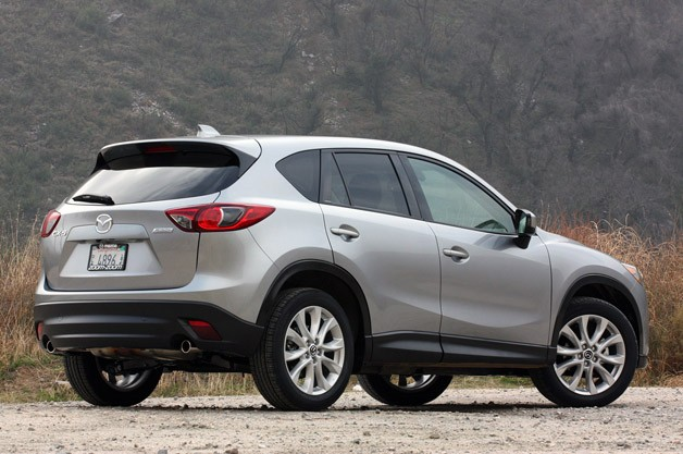 2013 Mazda CX-5 rear 3/4 view