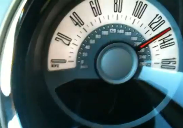Ford Mustang V6 driveshaft video screen capture