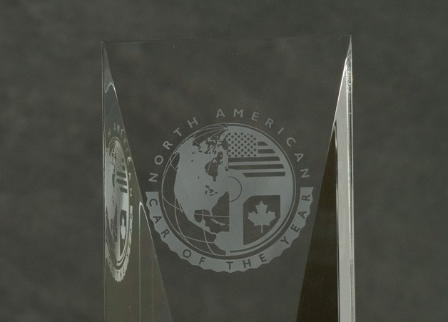North American Car of the Year crystal award