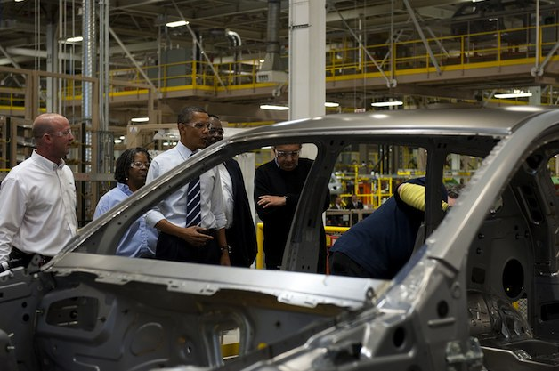 President Obama at Chrysler plant