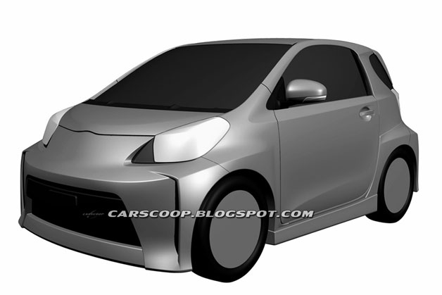 Scion iQ patent drawing