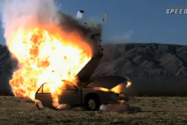 Stuntbusters blow up car