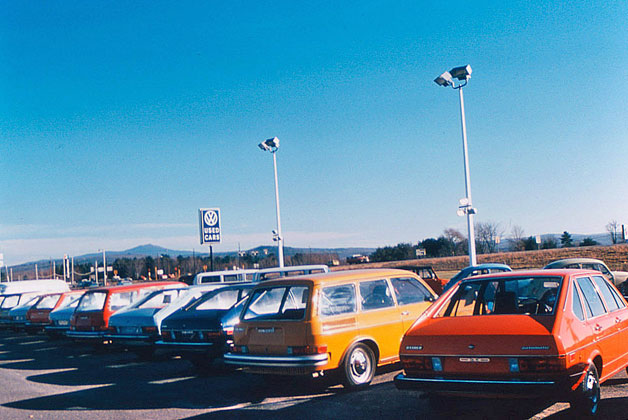Volkswagen used car lot