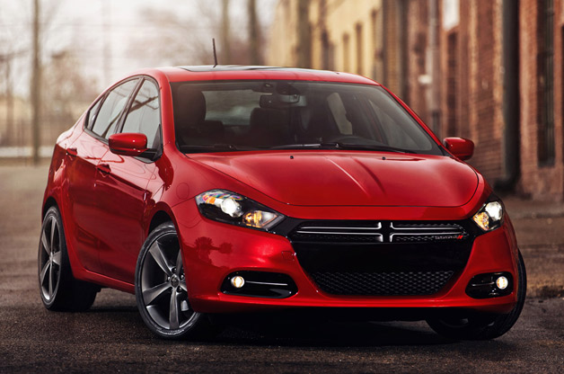 2013 Dodge Dart R/T - front three-quarter view, red