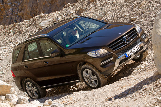 2012 Mercedes-Benz ML350 diesel playing among the rocks