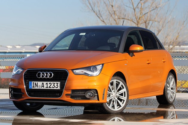 2012 Audi A1 Sportback front 3/4 view