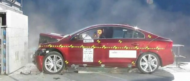 post crash test 2012 Volvo S60