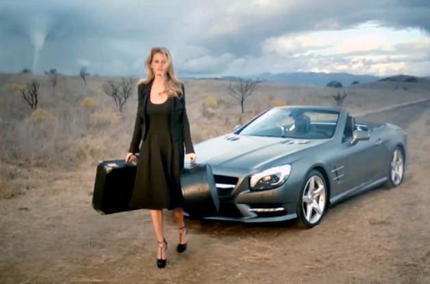Supermodel Lara Stone with 2013 Mercedes-Benz SL