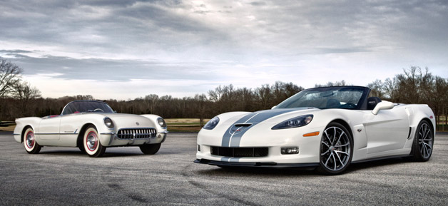 chevy sending off c6 corvette with 427 convertible and. Black Bedroom Furniture Sets. Home Design Ideas