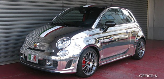Abarth 695 Tributo Ferrari in chrome