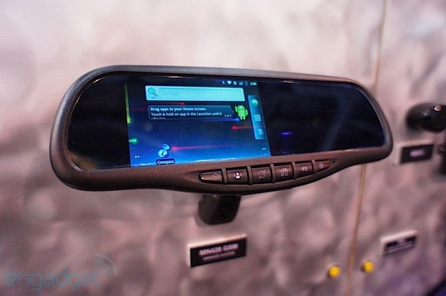 Android rear-view mirror