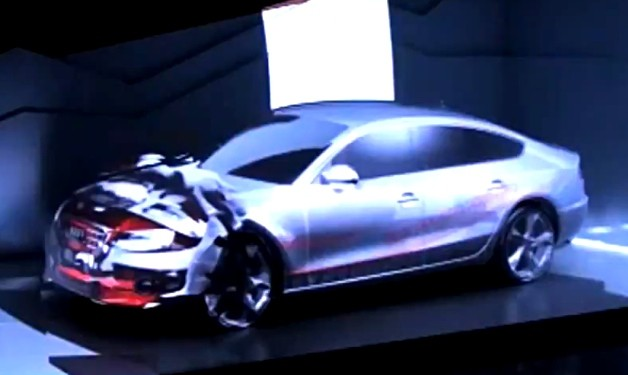 video: watch this audi transform into a moving picture show