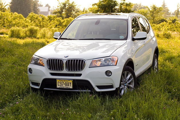 2012 BMW X3 in the grass