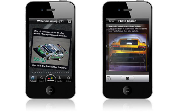 eBay Motors smartphone application
