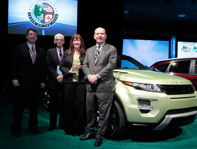 Land Rover Range Rover Evoque wins 2012 North American Truck of the Year award