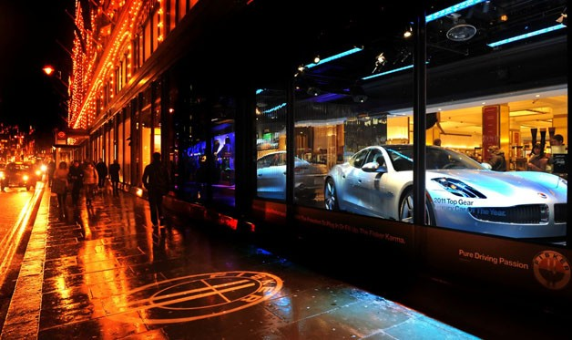 Fisker Karma showcased during Harrods in London