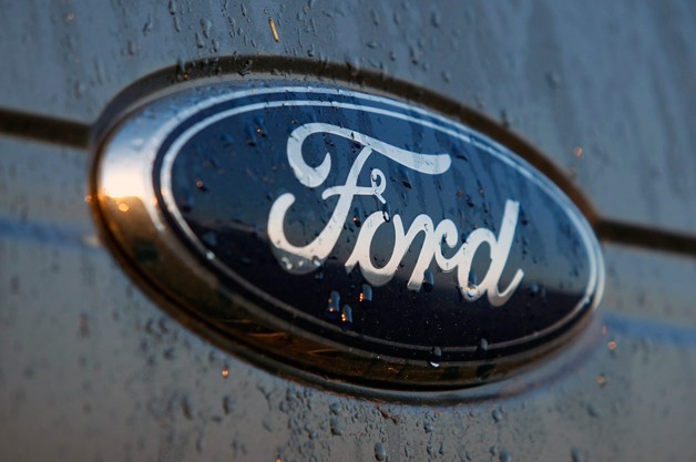 Ford Badge in the rain