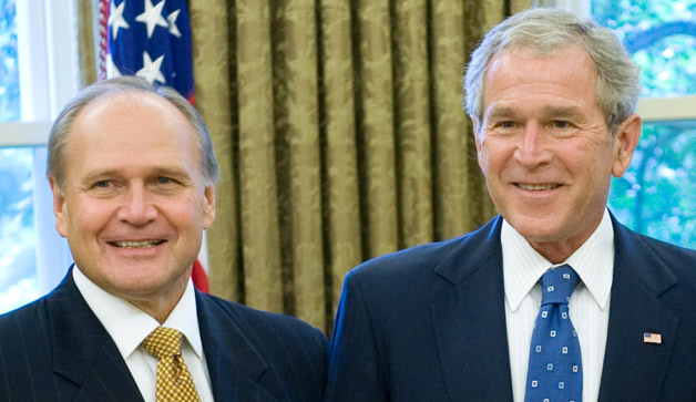 George Bush with Bob Nardelli of Chrysler