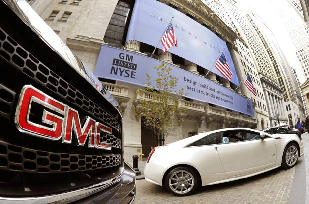GM cars outside of NYSE