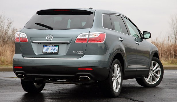 2012 Mazda CX-9 rear 3/4 view