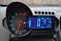2012 Chevrolet Sonic LTZ gauges