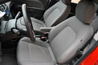 2012 Chevrolet Sonic LTZ front seats